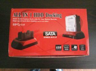 HDD док-станция, двойной USB 2,0 2,5 «3,5» IDE SATA