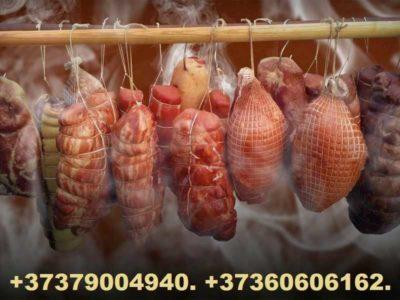 Колбасные оболочки, соль нитритная, щепа для копчения, сетка для колбас и копчёностей.