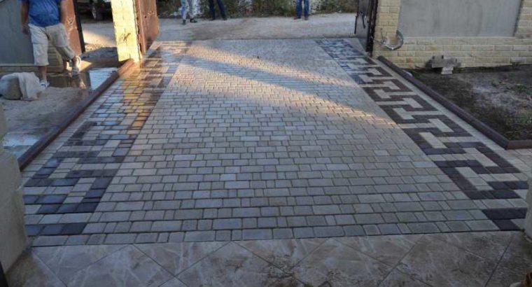 Укладка тротуарной плитки в любой точке молдовы