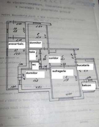 Vând apartament cu 3 camere + anexa