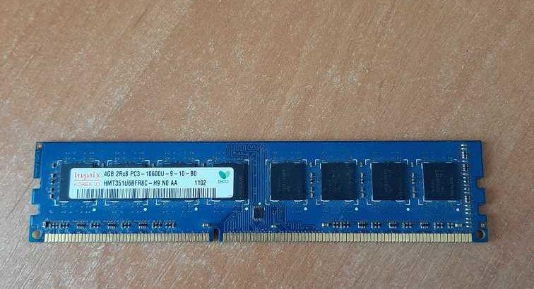 ОЗУ 4ГБ DDR3 1333MHZ 10600U 2Rx8 PC3