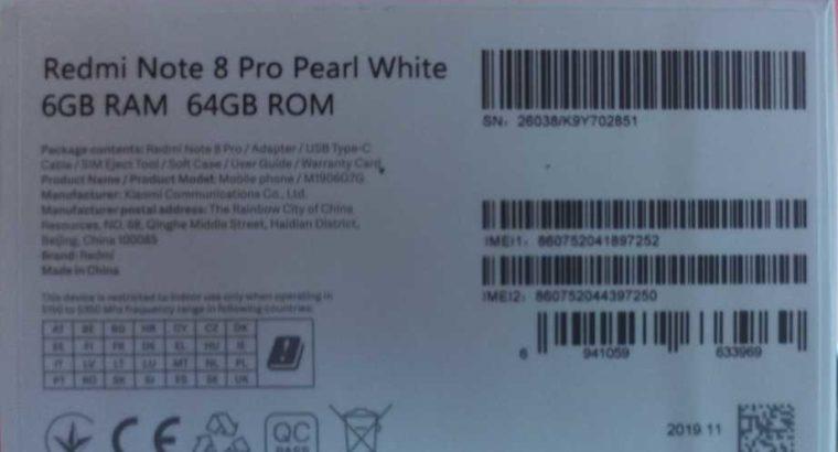 New! Mi Note 8 Pro(Global version)