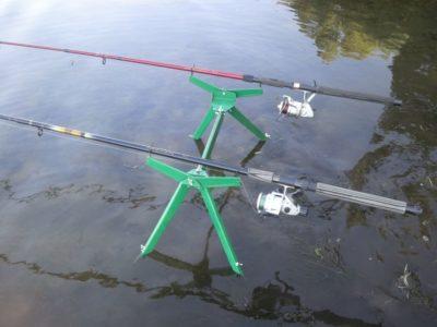 Подставка под 2 поплавочного удилища (+ видео)