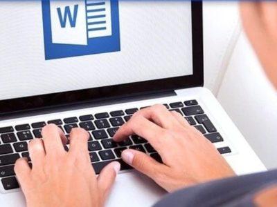 Набираем сотрудников для печати текста в word.